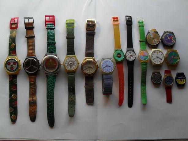 zestaw 16 zegarków SWATCH chronography, sterowane radiowo i inne