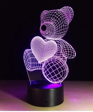 Светильник-ночник 3D МИШКА