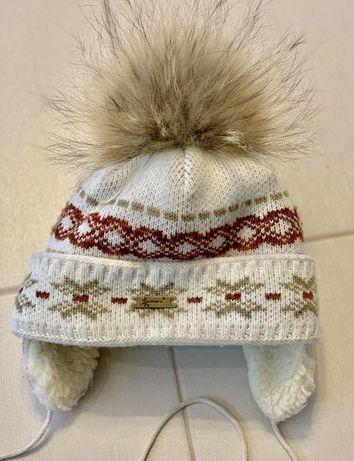 Зимняя шапка ушанка на овчине Gakkard