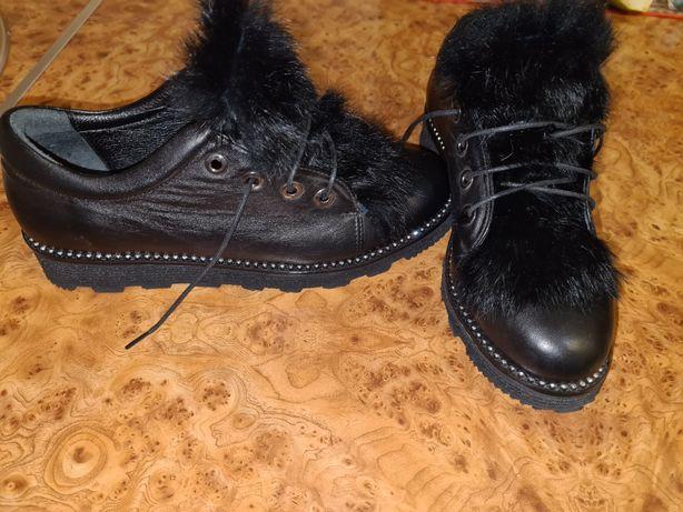 Новые демисезонные кожаные женские туфли/ботинки .