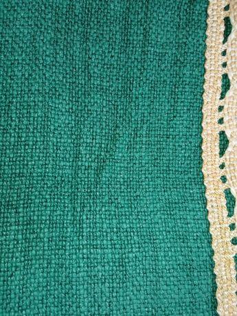Piękny zielony obrus 150cm x 120 cm stary