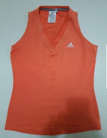Pomarańczowa, sportowa bluzka Adidas rozmiar M