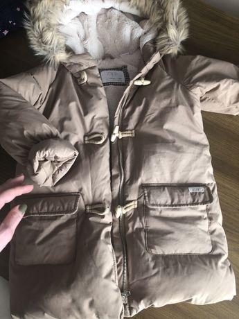 Комплект Пуховик куртка напівкрмбінізон zara oshkosh