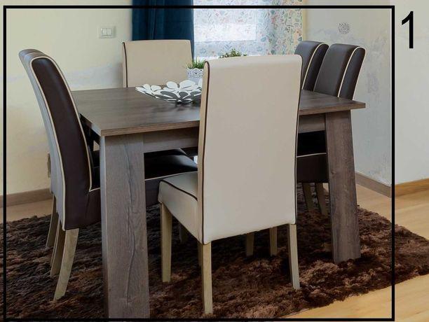 Mesa de jantar (extensível) + 6 cadeiras