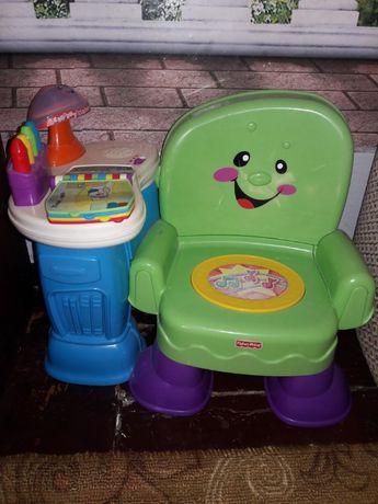 Музыкальное кресло - умный стульчик фирмы fisher price