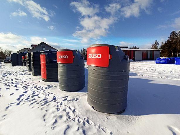 SIBUSO zbiornik na paliwo dwupłaszczowy olej napędowy 1500l