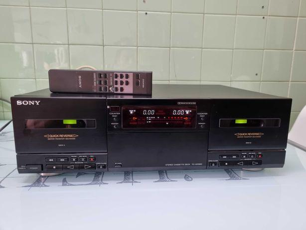 Deck duplo cassetes sony tc-wr890