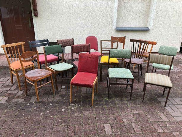 Krzesła oldskulowe Retro PRL vintage do wyboru różne modele i kolory