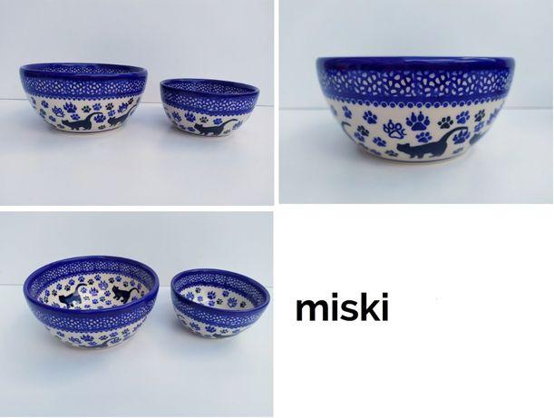 Oryginalna ceramika bolesławiecka _ miska miseczka KOT filiżanka inne