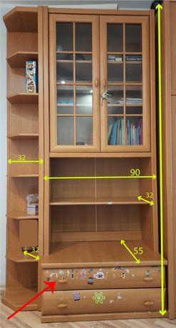 Письменный стол + книжный шкаф с приставным пеналом