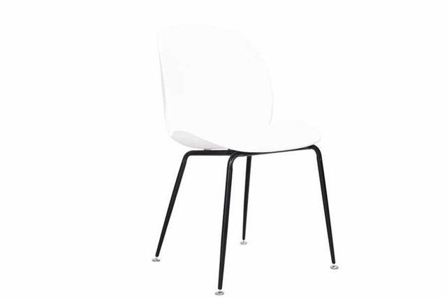 Krzesło INGO białe metalowe nogi czarne mat-400zł za komplet 4szt