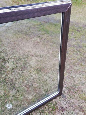 Okna używane ciemny brąz - białe