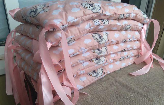 Бортики для детской кроватки. Защитные подушки. Безопасность