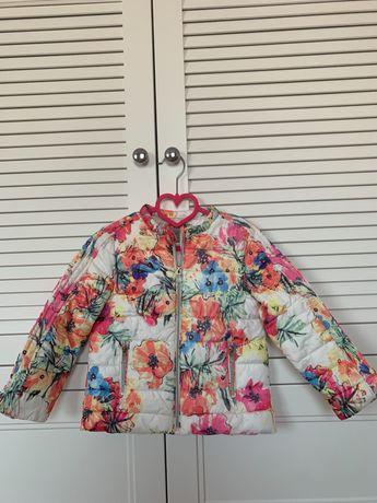 Kolorowa kurteczka Zara, rozmiar 110 / 5 lat, dziewczynka, jesień