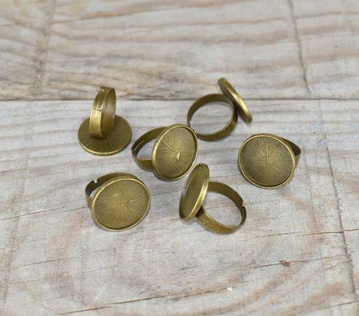 Material para bijuteria - bases anéis = 6 unidades