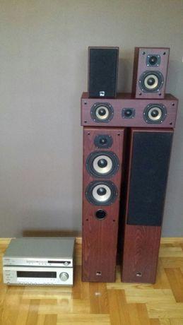 Amplituner Onkyo TX-SR304E, Onkyo DVD DV-SP404E, głosniki