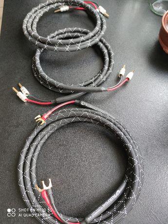 nowe przewody kable głośnikowe Audionova Moonwalk fabryczna konfekcja