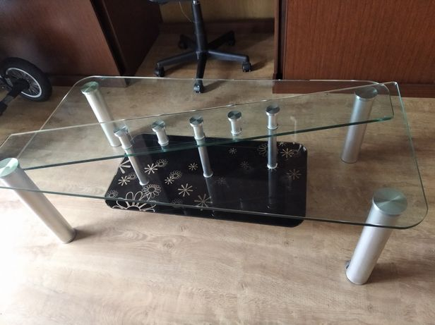 Stół stolik szklany 130 cm