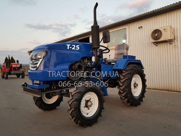 Міні-трактор БУЛАТ Т-25 PRO+фреза 140 +плуг 2х корпусний! Мототрактор