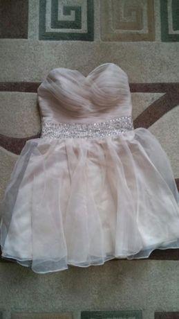 Ładna jasna, beżowa sukienka roz. 38