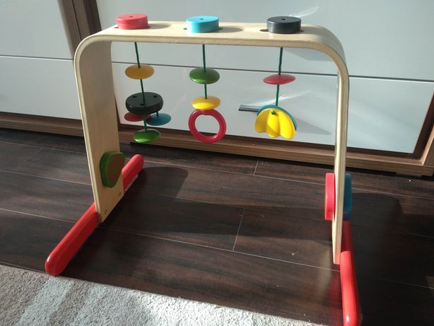 Ikea leka drewniany edukacyjny stojak z zabawkami
