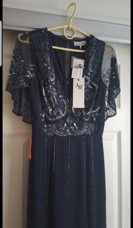 Zdobiona sukienka maxi r.xs