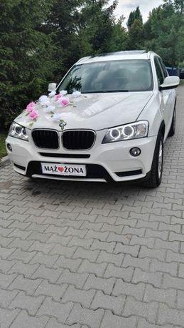 Limuzyna Auto do ślubu samochód na wesele Białe BMW X3