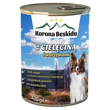 Karma dla psa Korona Beskidu z cielęciną 75% Mięsa 400g Bezzbóż