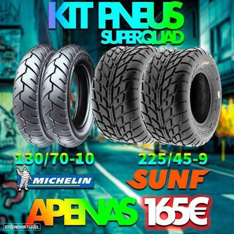 Kit pneus estrada para QUAD