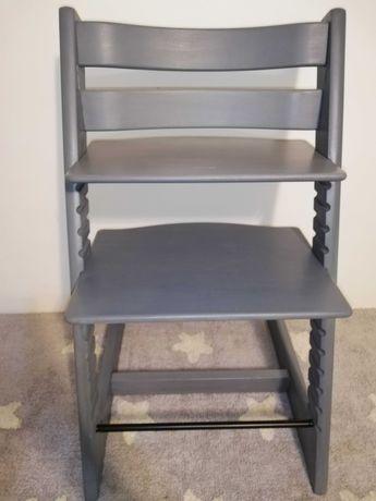 Krzesełko Szare Tripp Trapp Stokke starszy model malowane