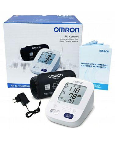 Ciśnieniomierz Omron + zasilacz. Nowy