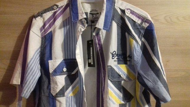Koszula męska z krótkim rękawem L/XL