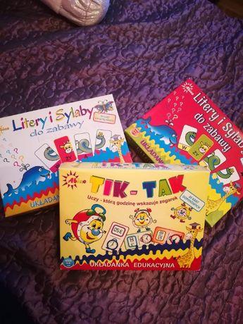sprzedam gry i układanki edukacyjne dla dzieci