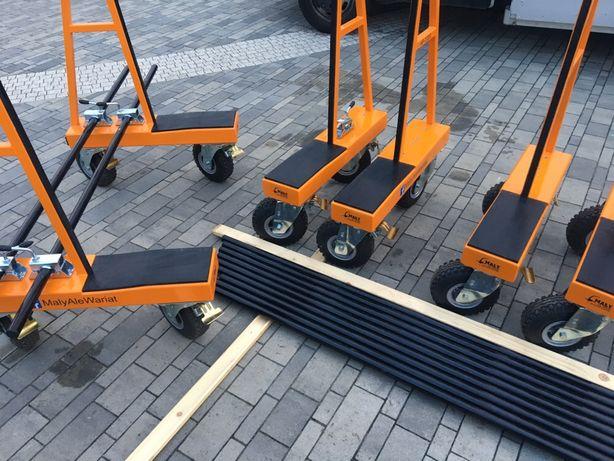 Rozkładany wózek transportowy do szkła,osb