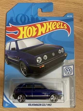 Hot Wheels Volkswagen Golf MK2 długa karta