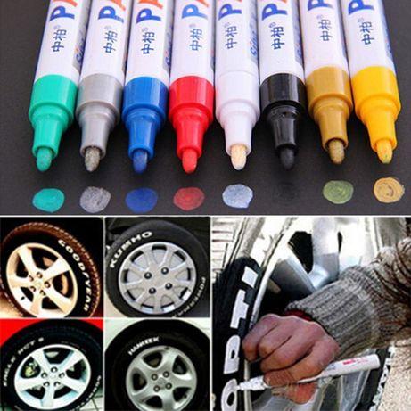 Маркер Paint для колёс резины шин карандаш по резине для покрышек авто