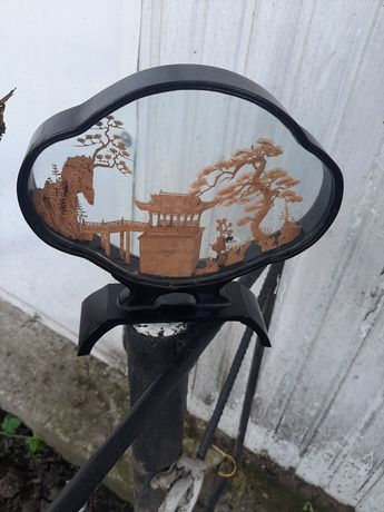 Настольное украшение пробковое дерево винтаж ручная работа  1960 ГОДА