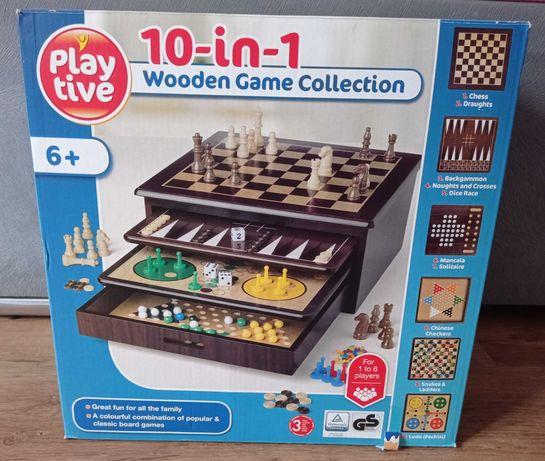 Play Tive gry drewniane 10 in 1 Nowe