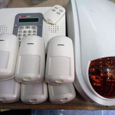 Alarme sem fios com comando e seis sensores