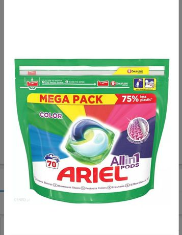 Kapsułki do prania Ariel Color 70 sztuk do prania koloru