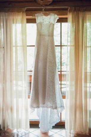 Suknia ślubna ARIAMO DIONNE piękna koronka+welon gratis! (r.34/36)