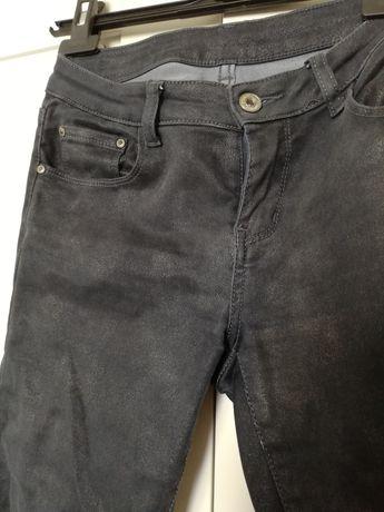 Spodnie szare s 36 grafitowe połyskujące