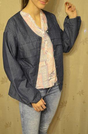 kurtka jeansowa dżinsowa szerokie rękawy ciekawa 38 40 M L