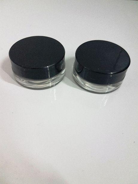 puste słoiczki szklane 5 g dwa 2 pojeminiki pojemniczki na kosmetyki