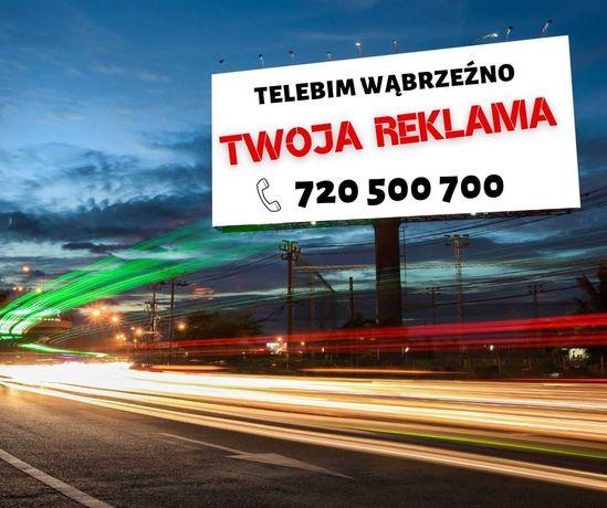 REKLAMA LED TELEBIM NA TELEBIMIE + projekt video animacja  graficzna