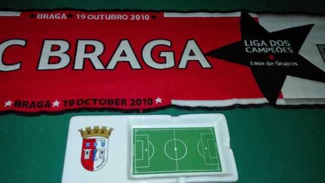 Cinzeiro  Espetacular do Sporting Clube de Braga  e Cachecol
