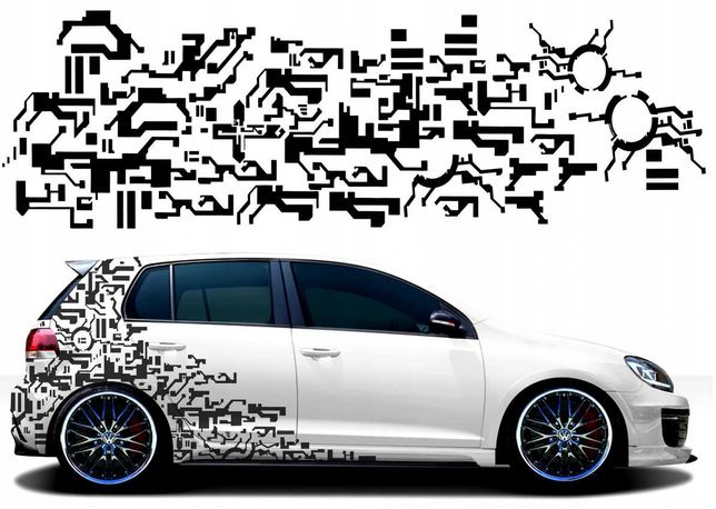 Zestaw naklejek na samochód Auto ciekawy MOTYW 45cm x 1.5m