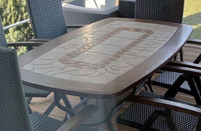 Stół ogrodowy kamienny 160x90 firmy Patio