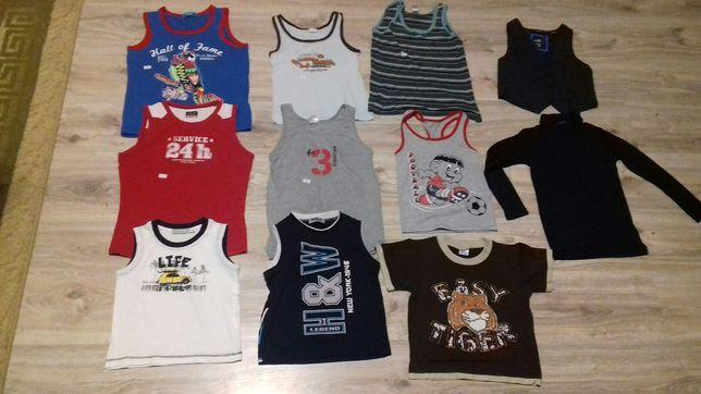 Koszulki,bluzeczki bez rękawków chłopięce,98-104,110-116,122,134,140