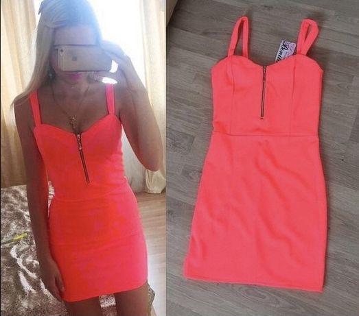 Продам обтягивающее ярко-оранжевое платье